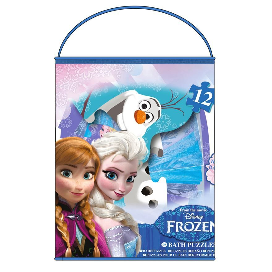 Disney Frozen bath foam puzzle featuring characters from the loved animated film. The jigsaw may vary in difficulty and are perfect set for bath time play. These pretty shaped puzzles are a fun way of encouraging your child observation, problem solving, imagination and communication skills.