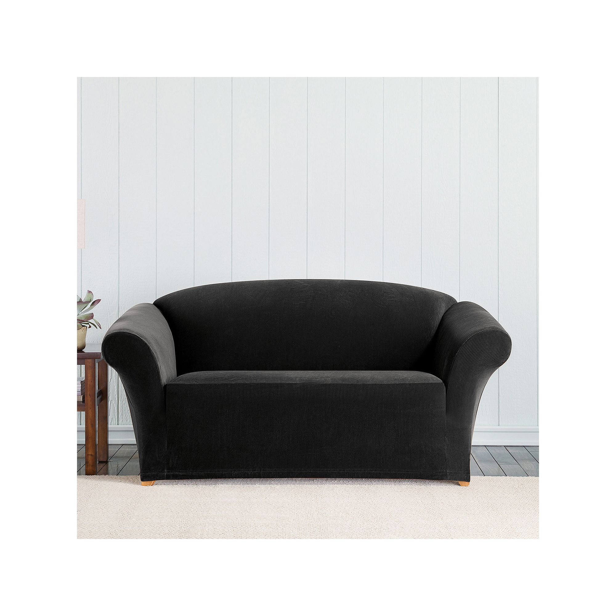 Stupendous Sure Fit Stretch Pixel Corduroy Loveseat Slipcover Uwap Interior Chair Design Uwaporg