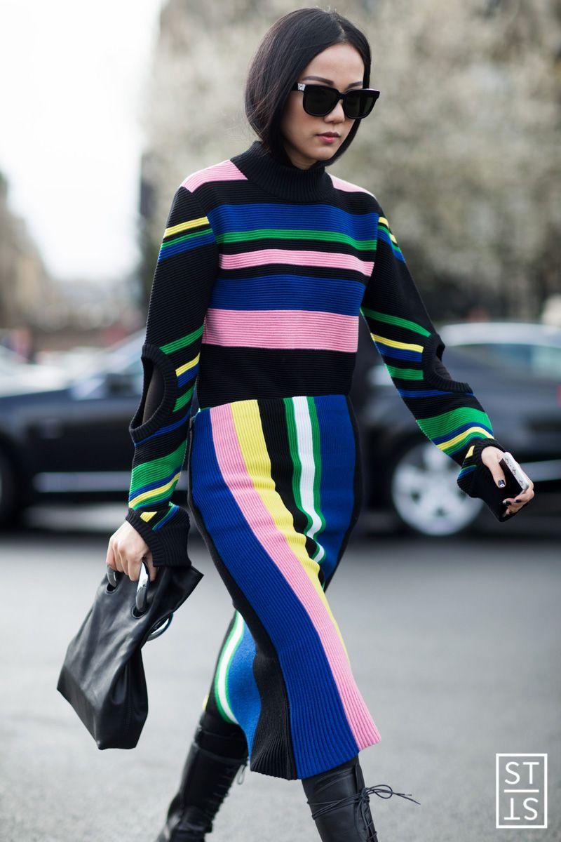 YOYO CAO during Paris Fashion Wee A/W 16/17