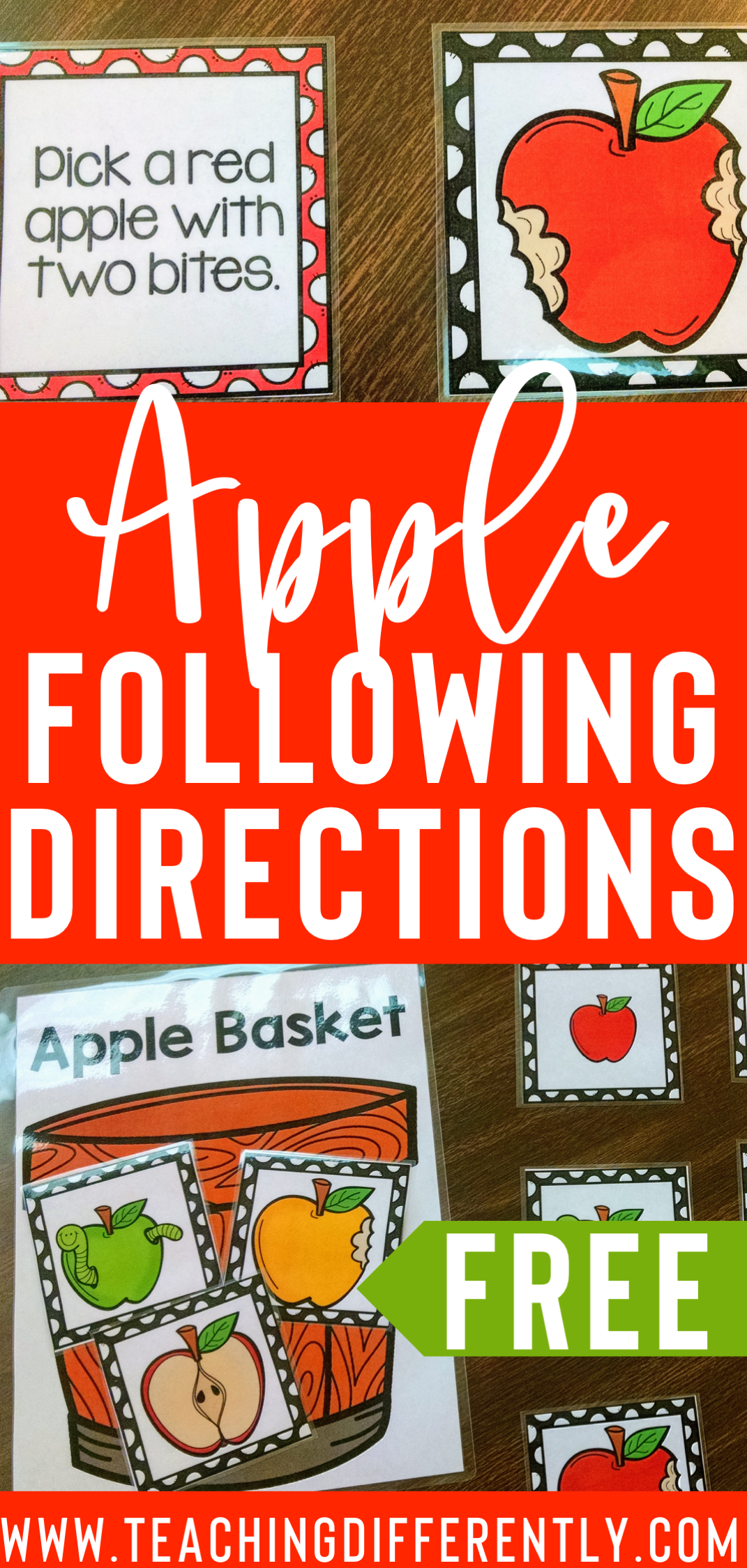 Apples Following Directions Game {FREE}