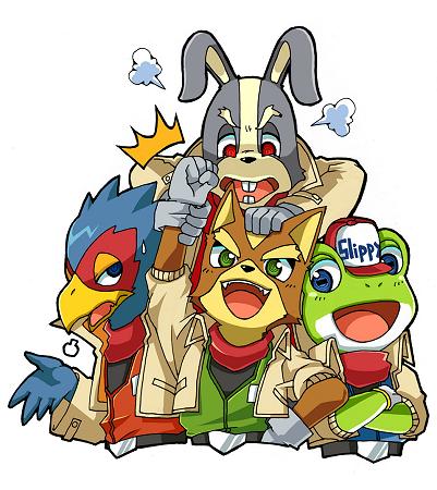 The Star Fox Team For 3ds Star Fox Fox Mccloud Star Fox 64