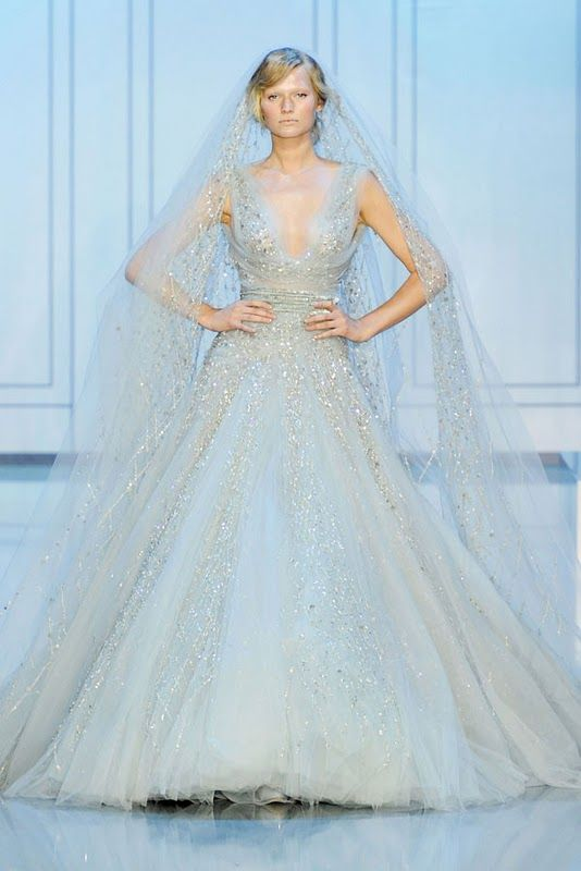Elie Saab Couture fashion - fit for a princess bride. (without vail)