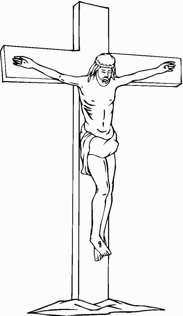 Jesus On The Cross Coloring Page Coloring Pages Jesus Coloring