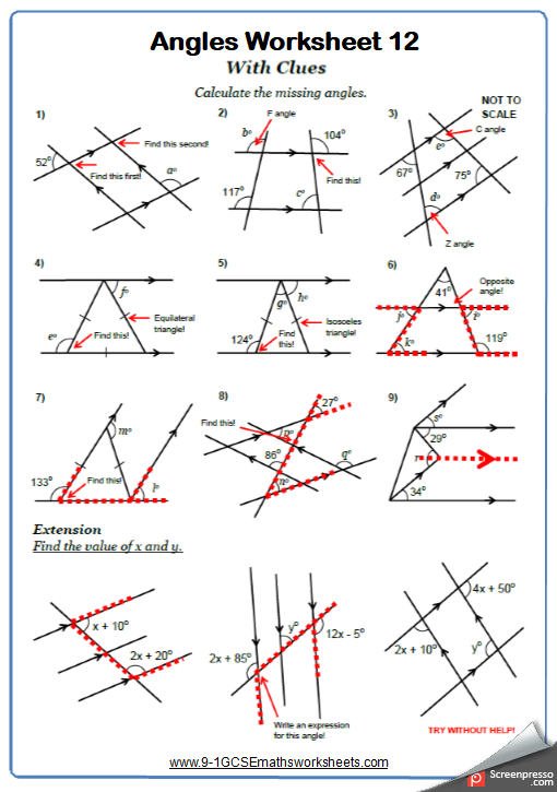 Angles Worksheet Practice Questions Angles Worksheet Triangle Worksheet Geometry Worksheets