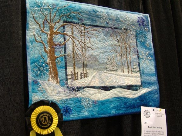 Eagle River Morning by Bonita Ware, won 3rd place Pictorial Quilt ... : pictorial quilt artists - Adamdwight.com