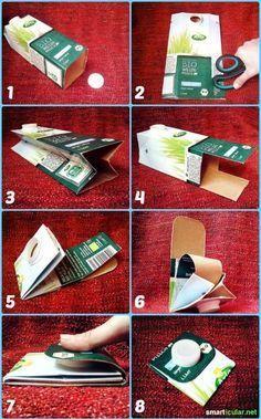 Bastelspaß - Geldbörse aus alten Milchkartons upcyceln #recyclingbasteln