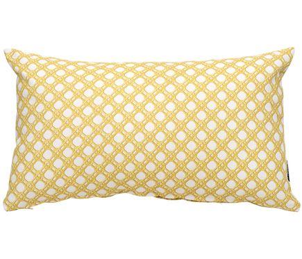 Funda De Cojin Algodon Estampado Amarillo Leroy Merlin Throw Pillows Pillows Bed