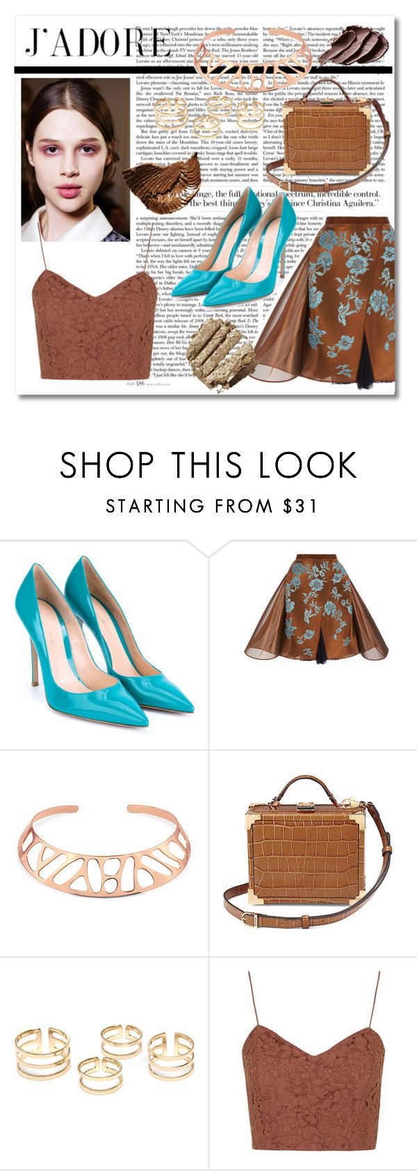 """Sin título #852"" by meelstyle on Polyvore featuring moda, Gianvito Rossi, Delpozo, BERRICLE, Aspinal of London y Topshop"