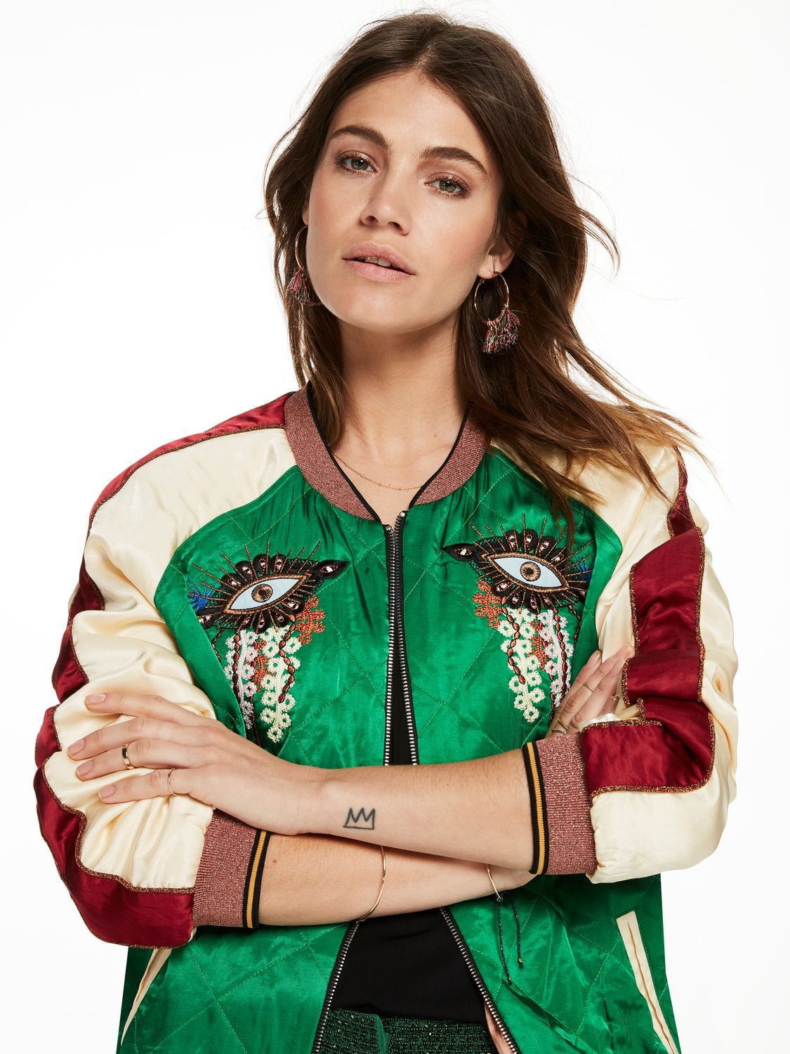 36471bd6c Reversible Embroidered Bomber Jacket in 2019 | KUFRIcrush :: Style ...