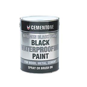 Cementone Waterproofing Bituminous Paint Black 5ltr Painting Cement Waterproof Paint Painting