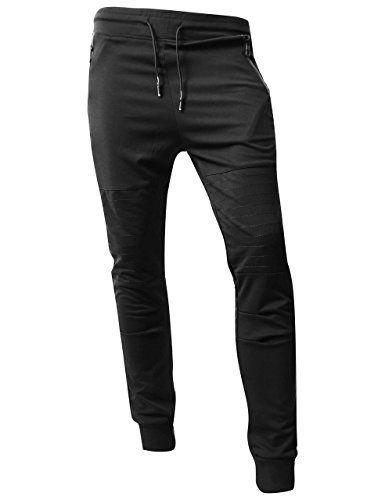 f877f186714df8 Hat and Beyond VW Mens Jogger Pants Biker Slim Fit Casual Fleece Active  Elastic 1VWA5001-18 at Amazon Men's Clothing store: