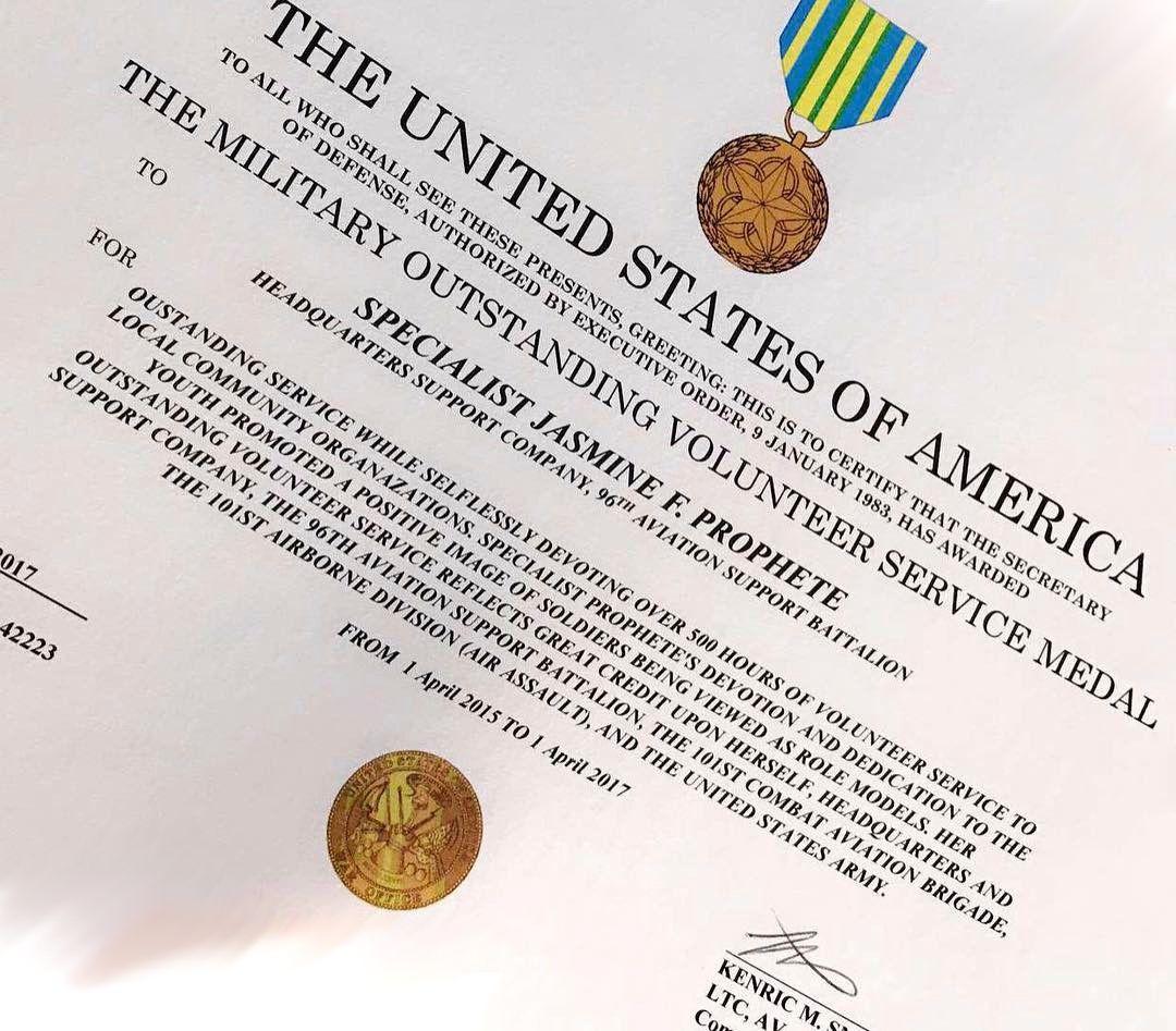 Military Outstanding Volunteer Service Medal