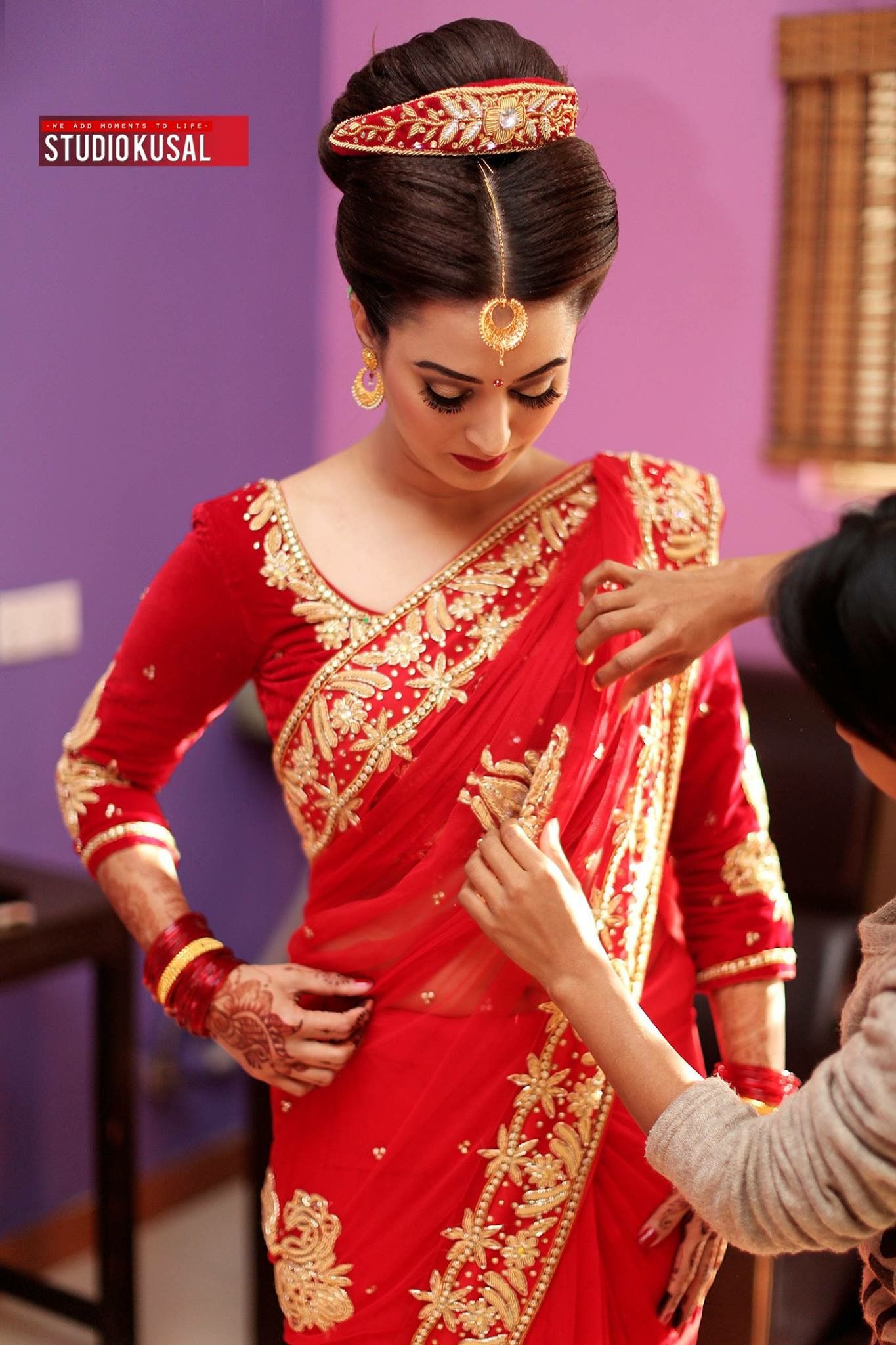 We Add Moments To Life Studiokusal Picturenepal Reception Day 2 Bride Pranita Hair Makeu Beautiful Wedding Dresses Bride Clothes Bengali Bridal Makeup