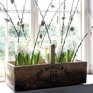 Caja reciclada para plantas