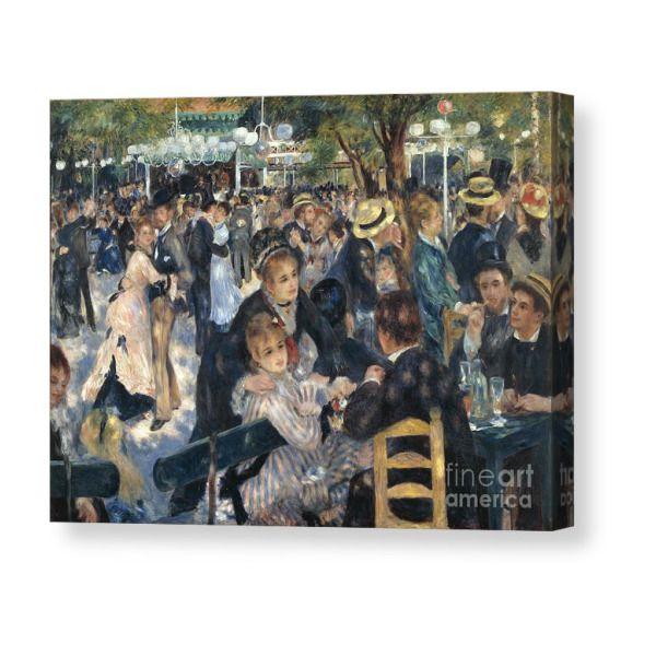 Bal Du Moulin De La Galette Canvas Print Products Canvas