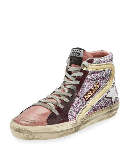b8f3a18ecd7d Glitter High-Top Star Sneaker   Products   Sneakers, Golden goose ...