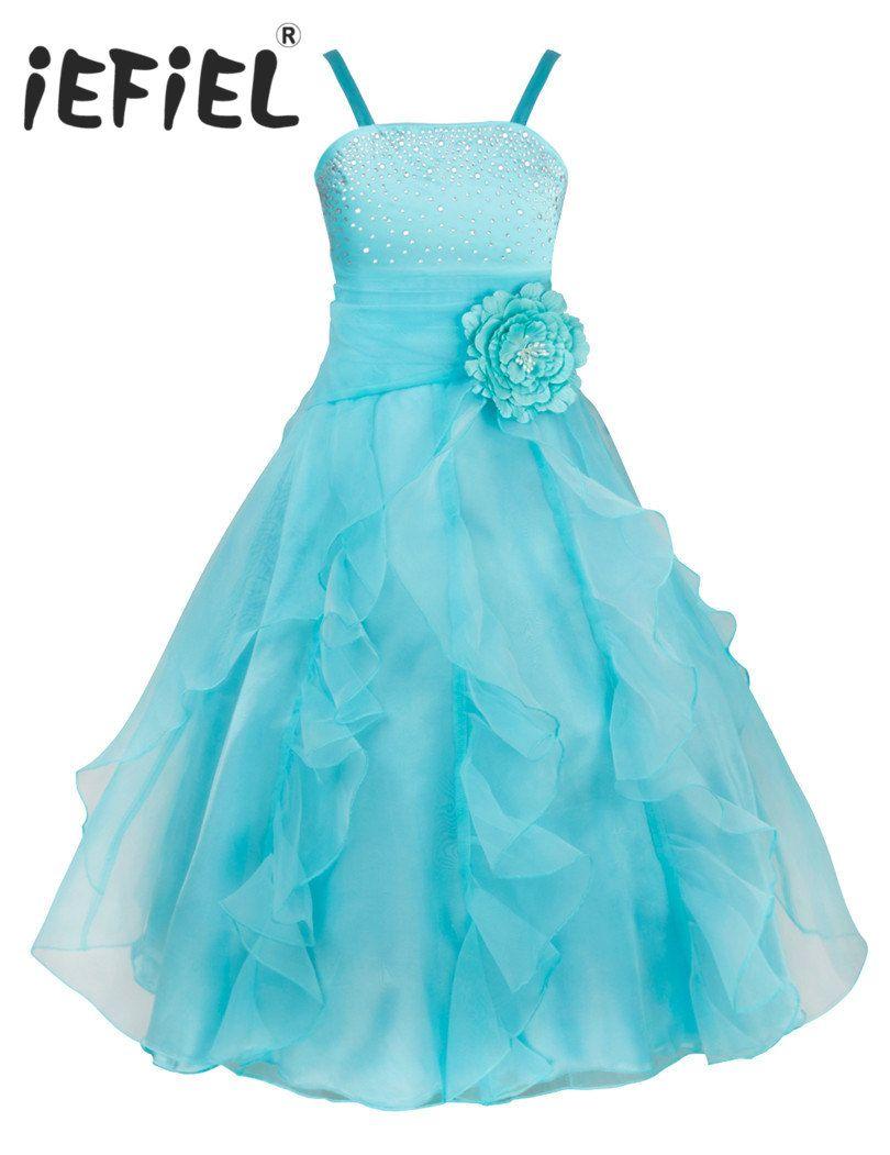 Free Shipping] Buy Best iEFiEL Flower Girl Dresses Princess Wedding ...