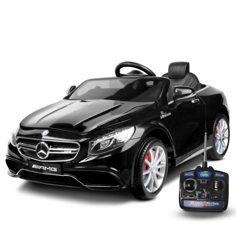 Kids Licensed Electric Ride On Mercedes Benz Black 12v Cars