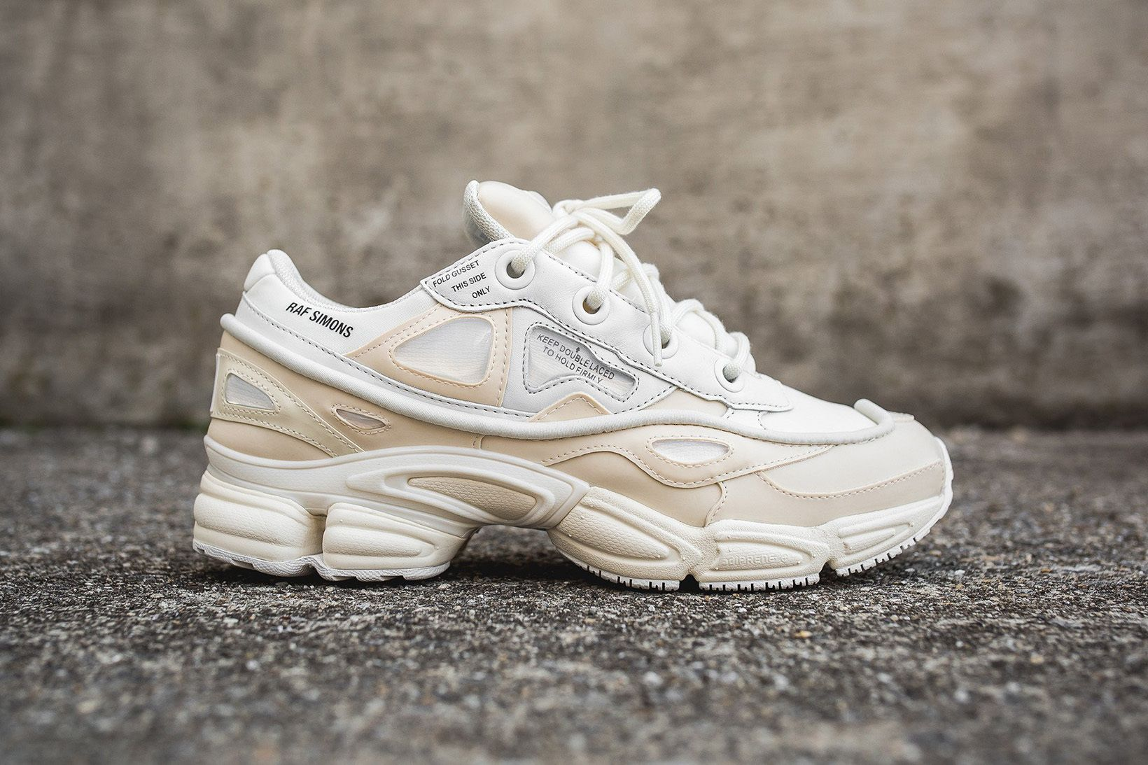 adidas & Raf Simons Unite for a Cream-Colored Ozweego Bunny