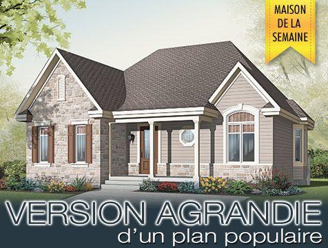 Maison de la semaine no 2163 v1 par dessins drummond plan populaire agrandie campagne - Plan de maison campagne ...