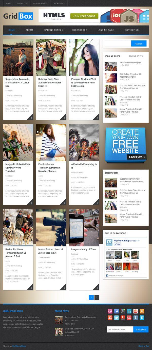 GridBox Premium WordPress Theme Mythemeshop #responsive #magazine ...