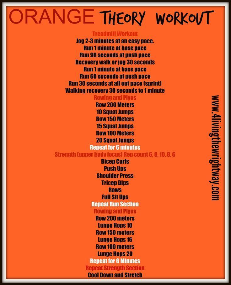 image result for orange splash workout plan | run jump breath