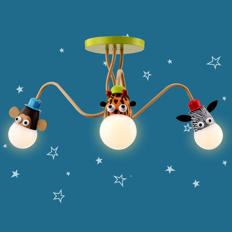 Add Fun To Your Children S Room With This Animal Semi Flush