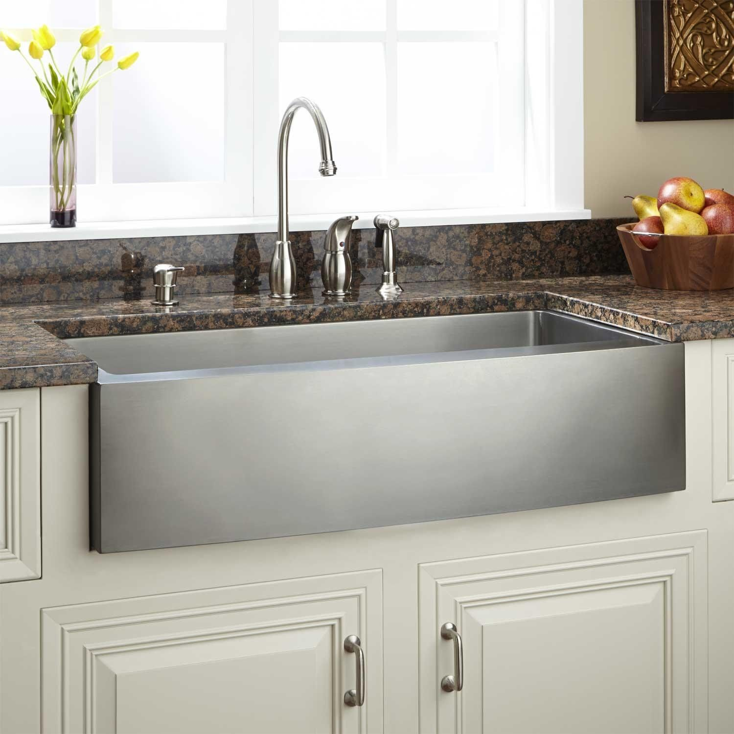 39 Optimum Stainless Steel Farmhouse Sink Curved Front With