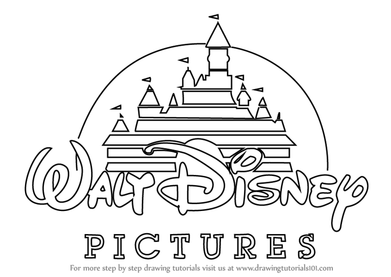 Learn How To Draw Walt Disney Logo Brand Logos Step By Step Drawing Tutorials Disney Logo Disney Drawings Walt Disney Logo