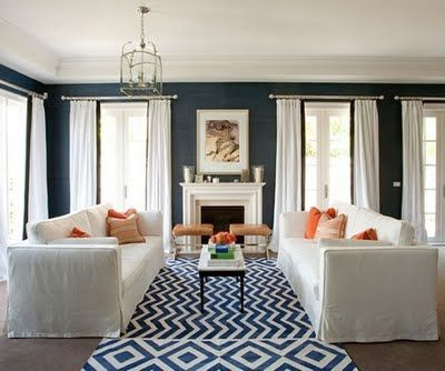 Coral Navy Navy Living Rooms Home Blue Living Room