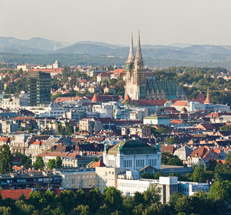 Zagreb Cathedral Zagreb Capitol Of Croatia Cathedral With A Old City Panorama Aff Capitol Cathedral Zagreb Panor Zagreb Croatia Incredible Places