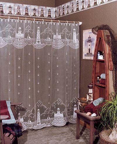 Lace Shower Curtains from Heritage Lace – Many different washable ...