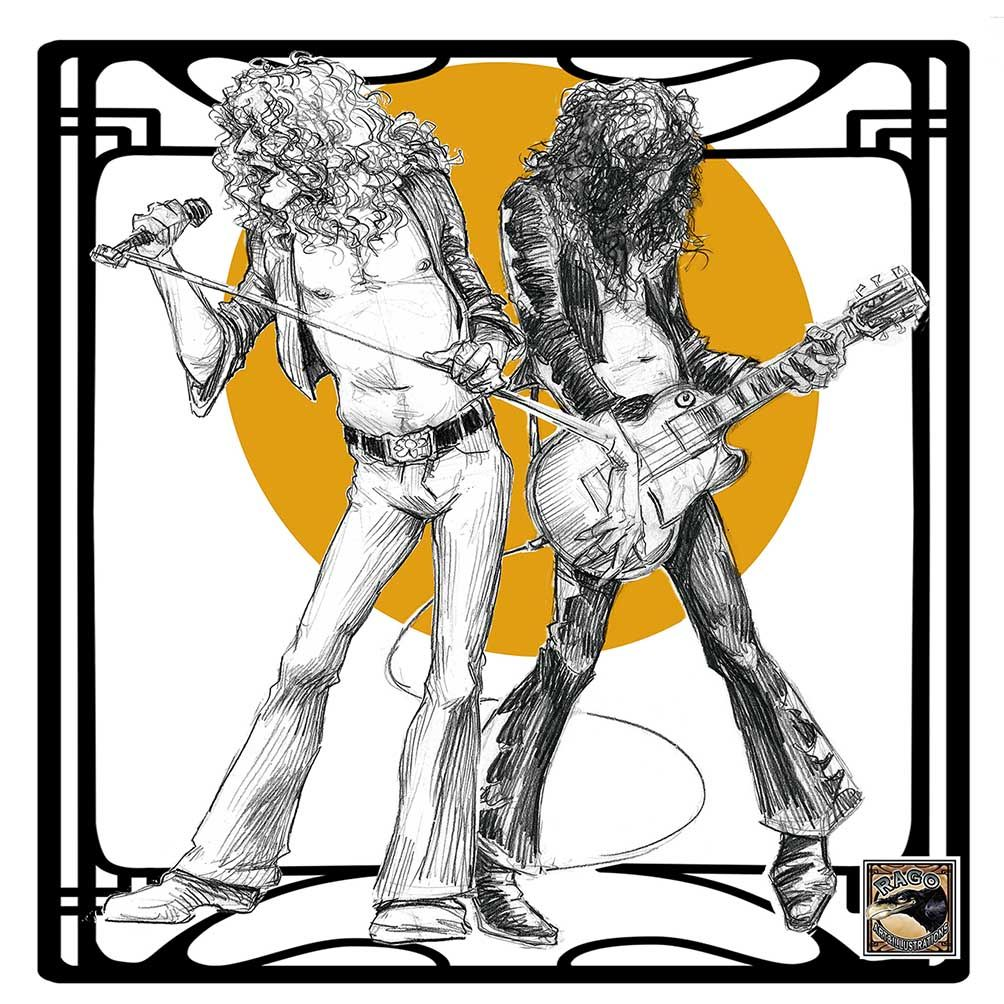 Led Zeppelin illustration Blog about digital and traditional