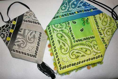Bandana Snap Bag - Free Sewing Tutorial