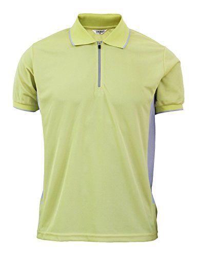 BCPOLO Mens Polo Shirt Cotton Pique Polo Shirt Long Sleeve Polo Shirt-Sky Blue L