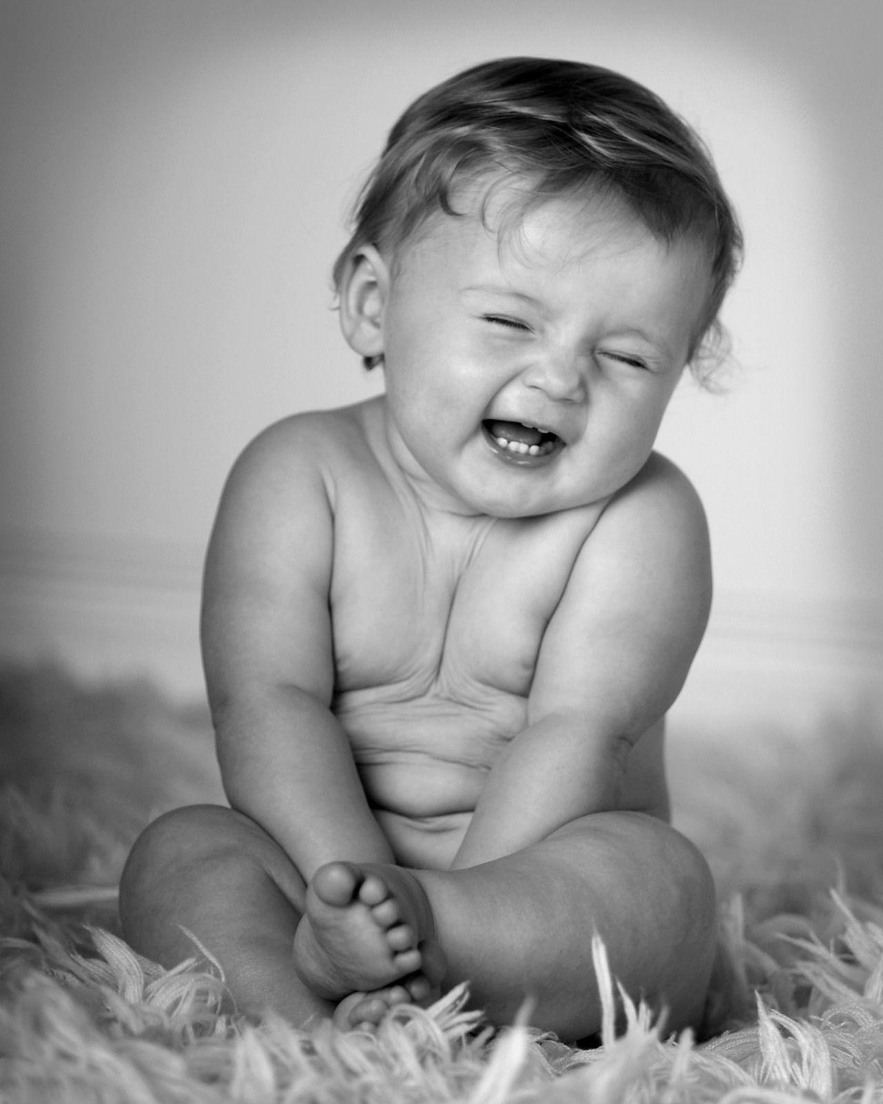 Babies Black laughing