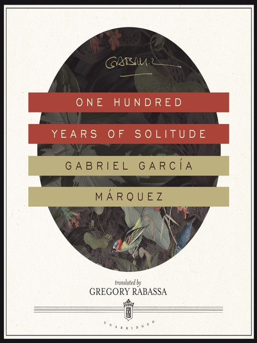Cover image for one hundred years of solitude books pinterest one hundred years of solitude unabridged gabriel garca one hundred years of solitude unabridged gabriel garca fandeluxe Images