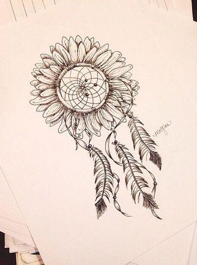 What Do Dream Catchers Do Entrancing Do I Like The Sunflower Dream Catcher Idea  Tattoos  Pinterest Inspiration
