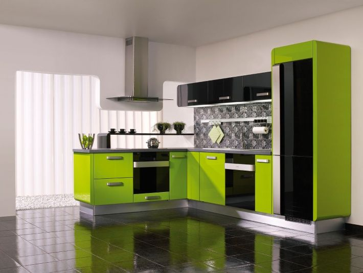 21 Refreshing Green Kitchen Design Ideas