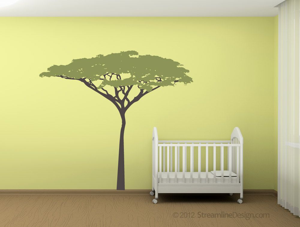 Six Foot Tall Acacia Tree Two Vinyl Wall Art decal sticker african ...