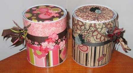 altered paint cans | these are my first attempts at altered paint cans and