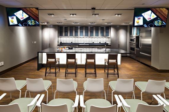 image result for demonstration kitchen  healthcare design