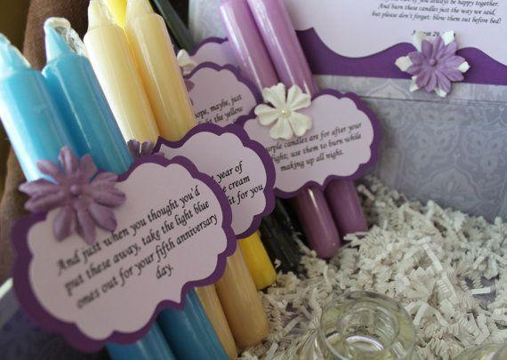 Candle Wedding Gift: Wedding Shower Candle Poem Gift Set. Bridal Candle Basket