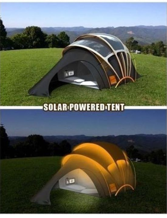 How cool is this solar-powered tent?! #prepared #outdoor #solarpower #gogreen
