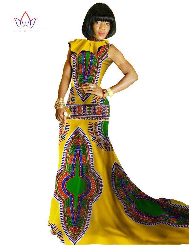 d47f1e6a0fc Autumn Dress Women African Bazin Riche Club Factory Mermaid Dress ...