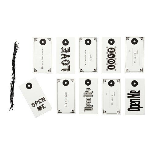 IKEA HISTORISK - Gift tags, letters / 10 pack * Click on the image