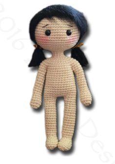 Kijk wat ik gevonden heb op Freubelweb.nl: een gratis haakpatroon van Zhaya Designs Amigurumi om deze leuke pop haken. Er staan ook kleertjes op haar site.  https://www.freubelweb.nl/freubel-zelf/gratis-haakpatroon-pop-3/
