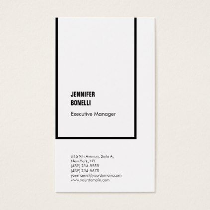 Professional plain minimalist modern black white business card professional plain minimalist modern black white business card real estate gifts business cyo diy customize real estate pinterest reheart Images