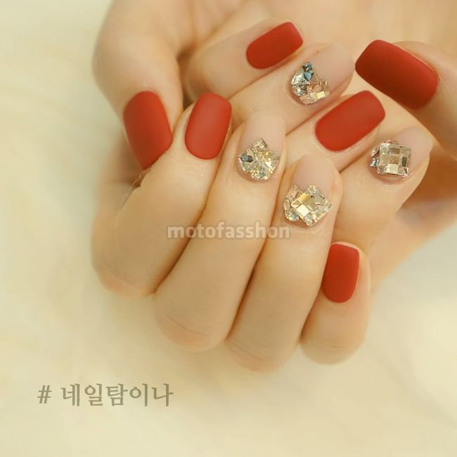 "압구정네일샵 네일탐이나 nailtam2na on Instagram: ""_ RED❤ . . . . . . ."" 