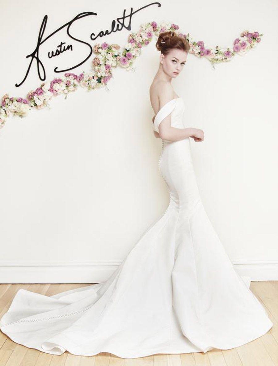 Austin Scarlett Laurel As68 Wedding Dress Size 10 Wedding